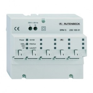 Rutenbeck SRM 5 Switch REG 10 Gigabit Ethernet