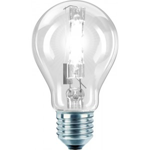 Philips LM EcoClassic 70W E27 230V A55 CL 1CT/ HV-Halogenlampe 70W klar