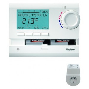 Theben RAMSES 813 top2 HF Set S Uhrenthermostat digital 230V
